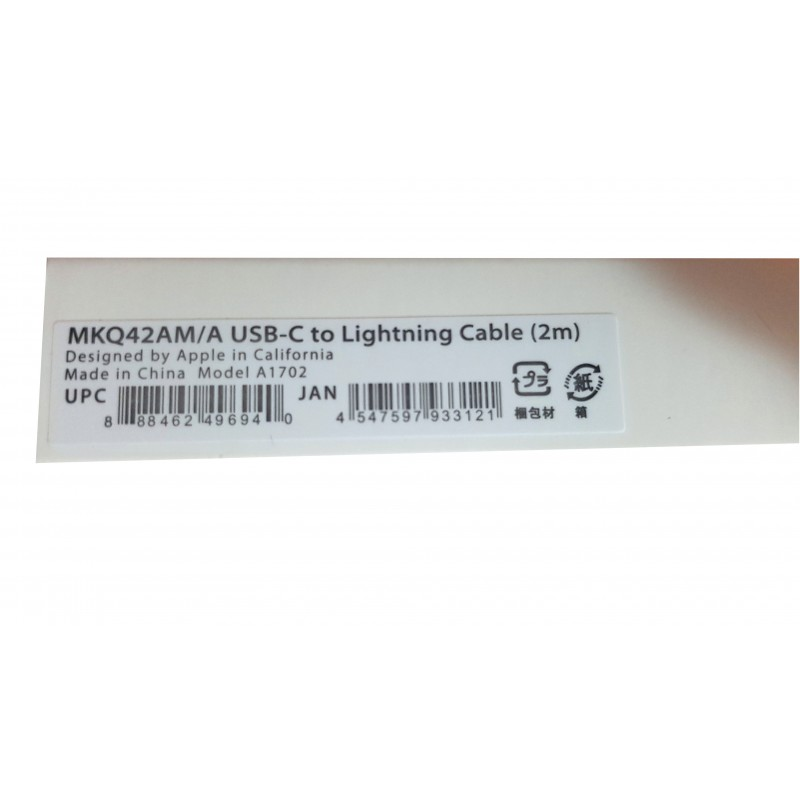 iPhone USB C - lightning 2m kábel